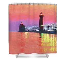 Great Lakes Light Shower Curtain by Dennis Cox WorldViews
