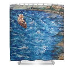 Great Lakes Pirates Shower Curtain
