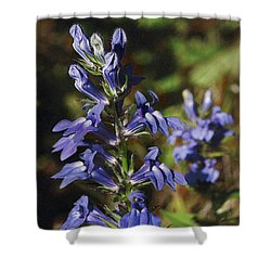 Great Lobelia Blues Shower Curtain