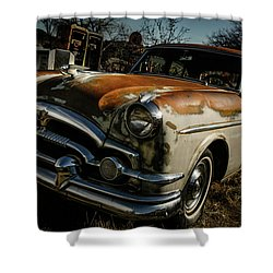 Shower Curtain featuring the photograph Great Old Packard by Marilyn Hunt