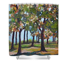 Great Outdoors Shower Curtain by Jan Bennicoff