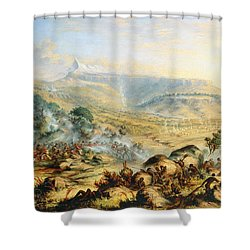 Great Peak Of The Amatola-british-kaffraria  Shower Curtain by Thomas Baines