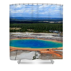 Great Prismatic Spring   Shower Curtain