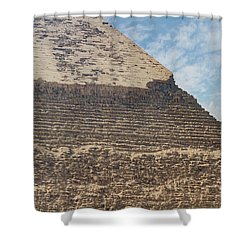 Shower Curtain featuring the photograph Great Pyramid Of Giza by Silvia Bruno