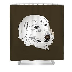 Shower Curtain featuring the digital art Great Pyrenees Dog by MM Anderson
