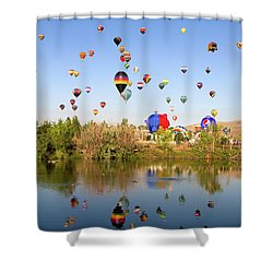 Great Reno Balloon Races Shower Curtain