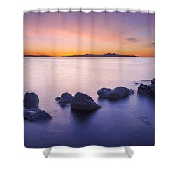 Shower Curtain featuring the photograph Great Salt Lake by Dustin  LeFevre