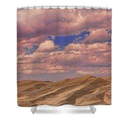 Great Sand Dunes And Great Clouds Shower Curtain by James BO  Insogna