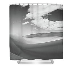 Great Sand Dunes National Park In Black And White Shower Curtain