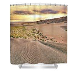 Great Sand Dunes Sunset - Colorado - Landscape Shower Curtain by Jason Politte