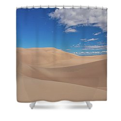 Great Sand Dunes Under A Blue Sky Shower Curtain