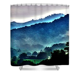 Great Smokey Mountains Shower Curtain by Susanne Van Hulst