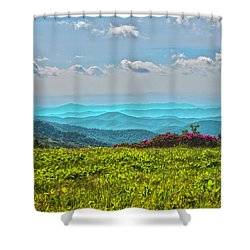 Great Smoky Mountain Afternoon Shower Curtain