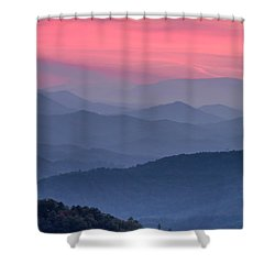 Great Smoky Mountain Sunset Shower Curtain by Teri Virbickis