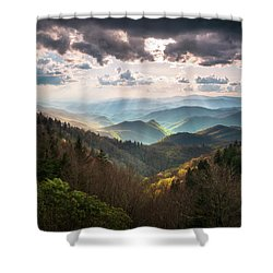 Great Smoky Mountains National Park North Carolina Scenic Landscape Shower Curtain