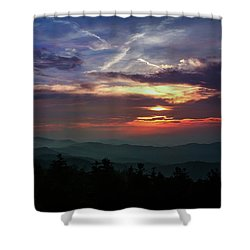 Shower Curtain featuring the photograph Great Smoky Sunsets by Jessica Brawley