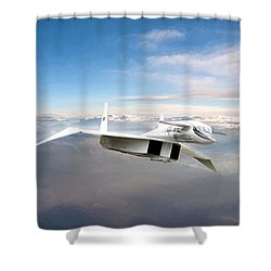 Great White Hope Xb-70 Shower Curtain by Peter Chilelli