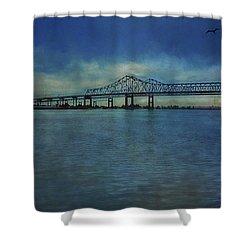 Greater New Orleans Bridge Shower Curtain