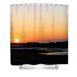 Greater Prudhoe Bay Sunrise Shower Curtain by Anthony Jones