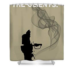 Greatest Job In The World - Mad Men Poster Roger Sterling Quote Shower Curtain