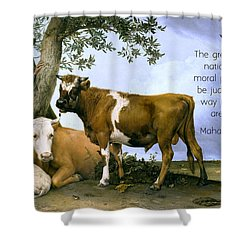 Greatness Of A Nation Shower Curtain