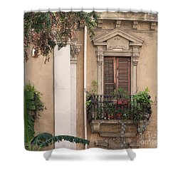 Grecian Courtyard Shower Curtain