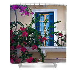 Shower Curtain featuring the photograph Greek Beauty by Rob Hemphill