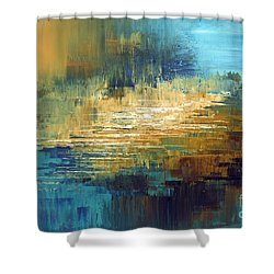 Shower Curtain featuring the painting Greek Isles by Tatiana Iliina