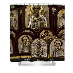 Greek Orthodox Church Icons Shower Curtain