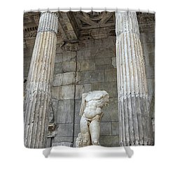 Shower Curtain featuring the photograph Greek Statue by Patricia Hofmeester