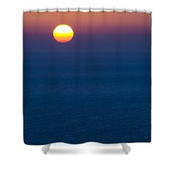 Greek Sunset Shower Curtain