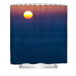 Greek Sunset Shower Curtain