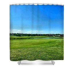 Green Acres 2018 Shower Curtain