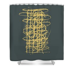 Green And Gold 1 Shower Curtain