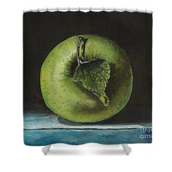 Green And Yellow Apple Shower Curtain