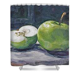 Green Apple Shower Curtain