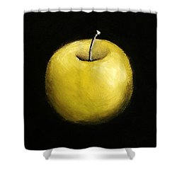 Green Apple Still Life 2.0 Shower Curtain by Michelle Calkins