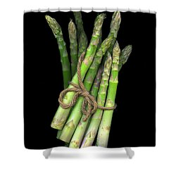 Green Asparagus Shower Curtain