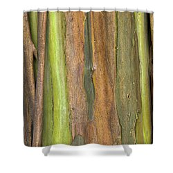 Shower Curtain featuring the photograph Green Bark 3 by Werner Padarin