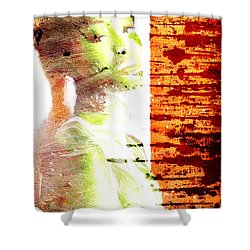 Green Bauty Shower Curtain by Andrea Barbieri