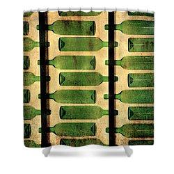 Green Bottles Shower Curtain