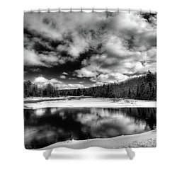 Shower Curtain featuring the photograph Green Bridge Solitude by David Patterson