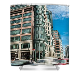 Green Building On Liverpool Metro Station London Shower Curtain