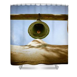 Shower Curtain featuring the photograph Green Church Bell by Marilyn Hunt