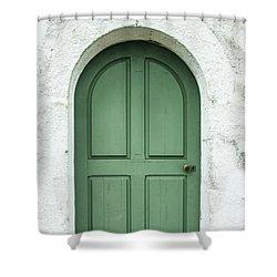 Green Church Door Iv Shower Curtain