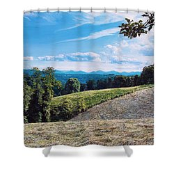 Shower Curtain featuring the painting Green Country by Joshua Martin