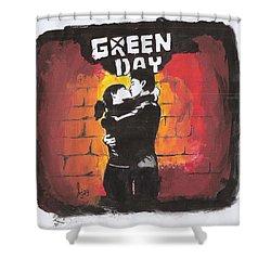 Green Day Shower Curtain by Ajay Atroliya