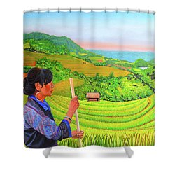 Green Destiny Shower Curtain