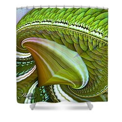 Shower Curtain featuring the digital art Green Diamonds by Melissa Messick