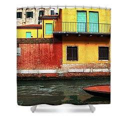 Shower Curtain featuring the photograph Green Doors by Sharon Jones